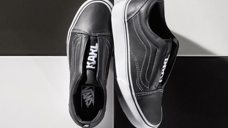Luxury designer Karl Lagerfeld entered into a collaboration with the skater label Vans, which combined the hip Vans look with Parisian chic. In summer 2017 a collection of six common sneaker models appeared.