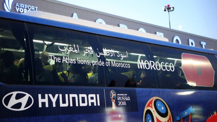 Hyundai and its sister company Kia support Fifa as vehicle partners. At this year's World Championship Hyundai/Kia will provide 530 vehicles for the tournament, including the team buses.
