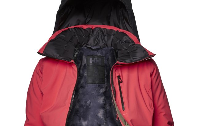 Helly Hansen's Paradise Heat ski jacket can regulate its heat at the touch of a button, thus preventing freezing muscles and increasing performance.