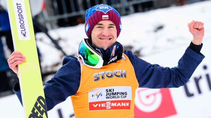 4) Kamil Stoch, 234,200 Instagram followers: All four jumps won at the Four Hills Tournament - something like that gets around in social media. Pole Kamil Stoch set Sven Hannawald's record in 2018, winning both individual medals at the 2014 Olympic Games in Sochi and one in Pyeongchang in 2018. And in 2017 and 2018 he was unbeatable at the Four Hills Tournament.