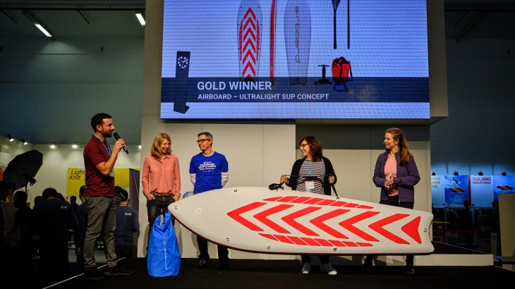 Super light and super fun: the Ultralight SUP Concept by Airboard, one of the Gold Winners.
