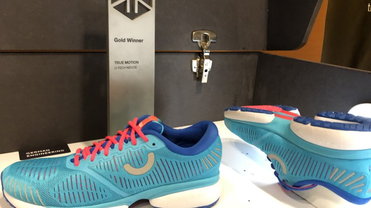 First shoe, first prize: With the U-Tech Nevos, True Motion immediately won the ISPO Award in gold.