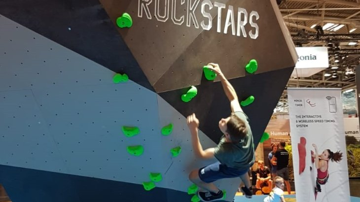 In the Focus Area Climbing Hub of OutDoor by ISPO, visitors can set and try out different routes.