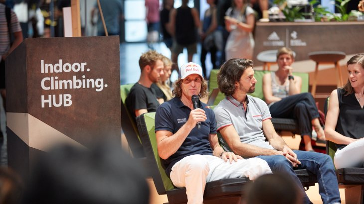 The German professional mountaineer and extreme climber Stefan Glowacz at OutDoor by ISPO.