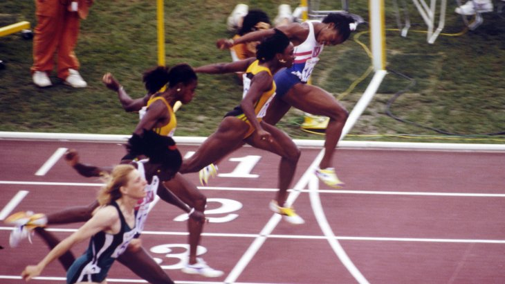 The 100 meters of women in Barcelona 1992