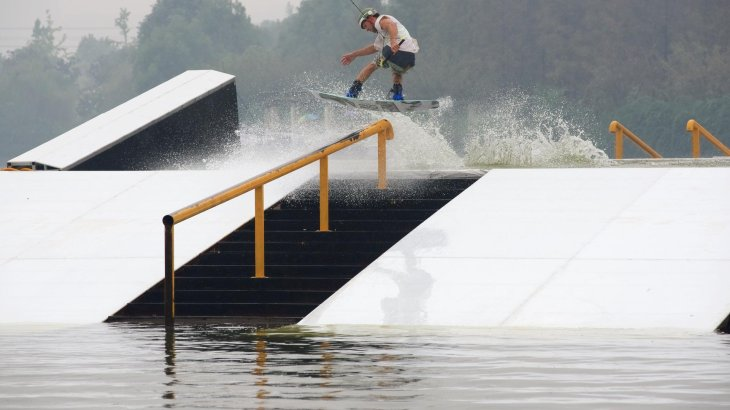 The FISE World Series uses natural lakes or artificial basins for their shows.