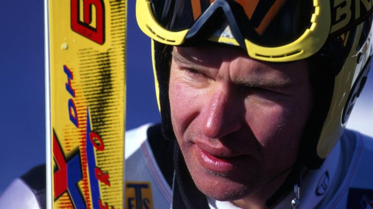 One year later the ski legend ends his career.