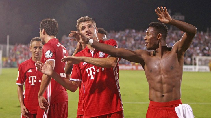 FC Bayern frequently has reason to celebrate; Telekom is paying up around 35 million euros yearly for its sponsorship.