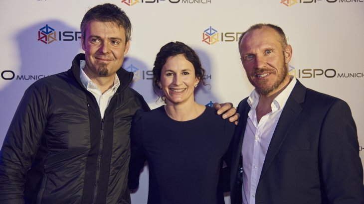 Ski legends among themselves: Hermann Maier (r.) with Claudia and Antoine Dénériaz, downhill Olympian winner of Turin 2006.