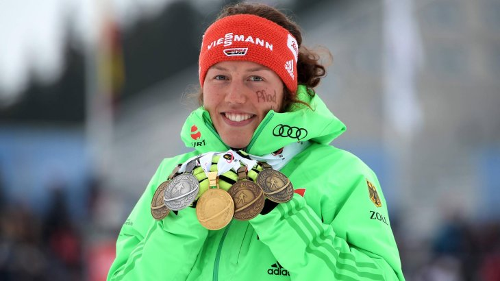 Laura Dahlmeier also made quite a stir at the 2016 World Cup: one gold, one silver, and three bronzes.