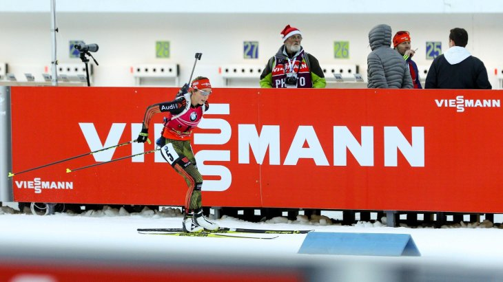 Viessmann isn't just a major biathlon sponsor, it's also Laura Dahlmeier's main sponsors.