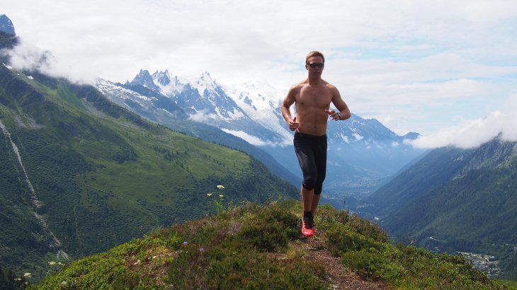 Many mountainous landscapes offer the most beautiful trail running trails. However, it is still advisable to wear a shirt.