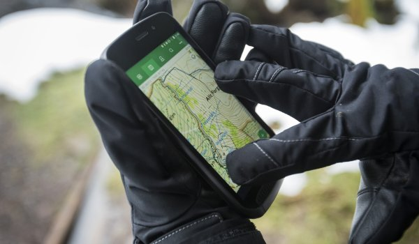 The mobile phone can also be operated with gloves