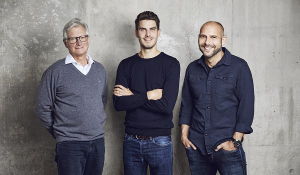 The three founders of True Motion (from left): Prof. Gert-Peter Brüggemann, Christian Arens and Andre Kriwet.