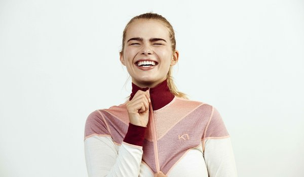 The functional underwear of Norwegian freestyle skier Kari Traa is designed by women for women. With her brand, she produces fashionable and functional baselayers that are impressive to look at.