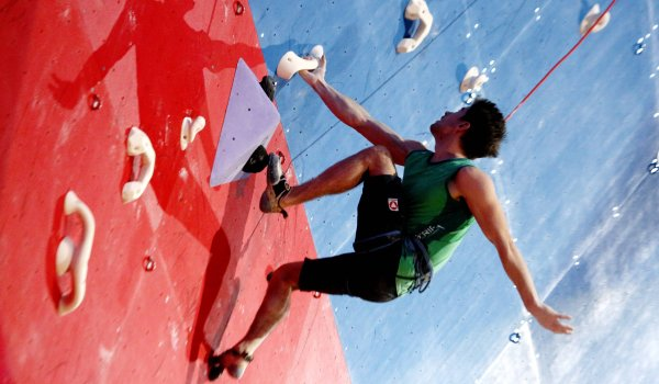 "One of the five new sports in 2020 is sport climbing. The ""Olympic Combined"" competition format was specially created for this purpose. The triathlon includes lead, bouldering, and speed climbing. The three competitions will be held on one day."