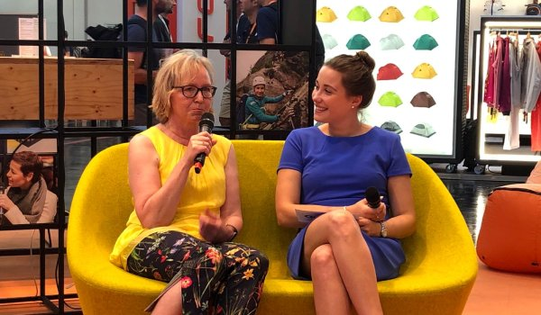 In an interview with host Hannah Klose (r.), Monika Dech, Deputy Managing Director of Messe München GmbH and co-founder of Frauen verbinden, provided exciting insights into her work.