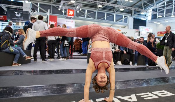 Action at the Beachbody booth at ISPO Munich 2020