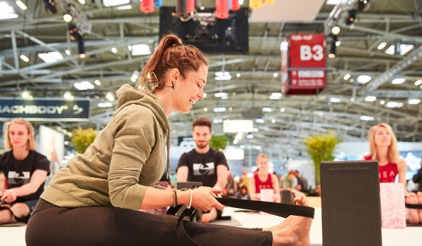 Blackroll meets Yoga with Sinah Diepold at ISPO Munich 2020