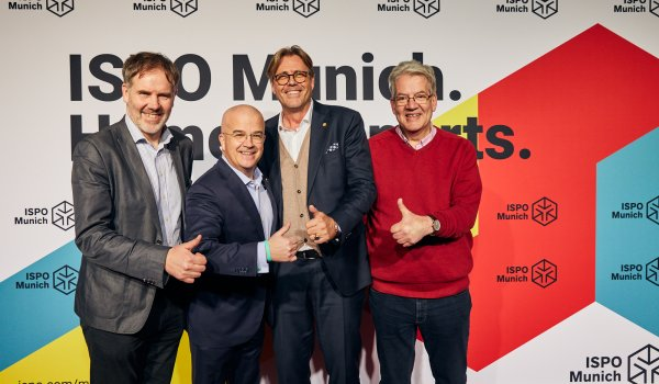 Kevin Mayne (Chief Executive Officer at Cycling Industries Europe), Tony Grimaldi (CEO Cycleurope), Robbert De Kock (CEO WFSGI), Jeroen Snijders Blok (Head of External Affairs Accell Group)