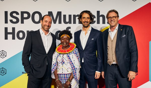 Caspar Copetti (Co-Founder On), Tegla Loroupe (Chef de Mission Refugee Olympic Team), Pascal Gerdsmeier (CEO & Founder Eden Star), Robbert De Kock (CEO WFSGI