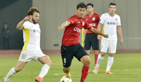 Football stars of the Chinese Super League.