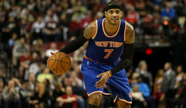 Carmelo Anthony von den New York Knicks: Star des US-Basketball-Teams.