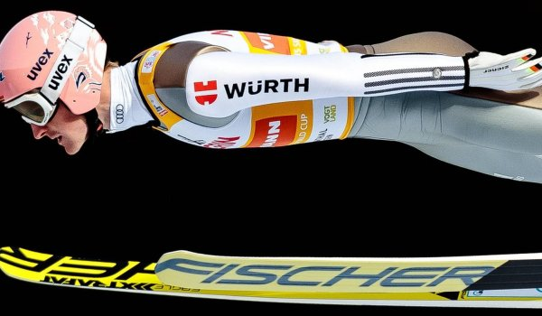 The logo of the screw manufacturer Würth can be seen on Severin Freund's upper arm just like on all other German jumpers. Just like the DSV, Würth is official partner of Freund.