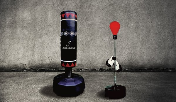 Boxing equipment from Jiao Hsiung.