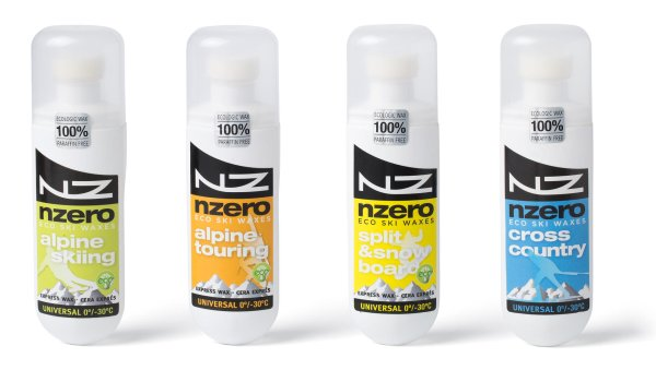 NZERO's 100% sustainable waxes for snow sports are based on natural ingredients: A mix of soybeans and corn. This means they do not need any chemical additives. NZERO was also awarded the ISPO Award for Eco Achievements Accessories in 2017.