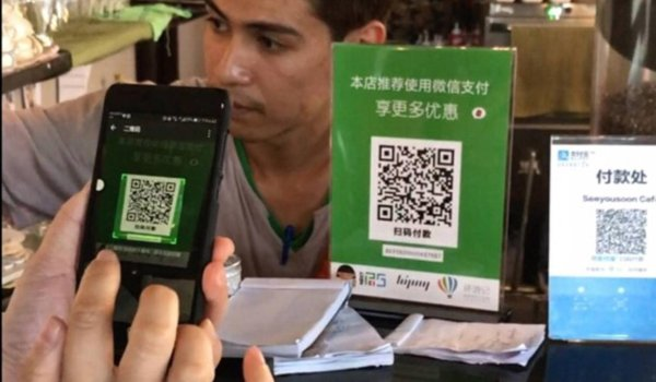 Paying via WeChat or Aliplay is common far across country boarders in Asia.