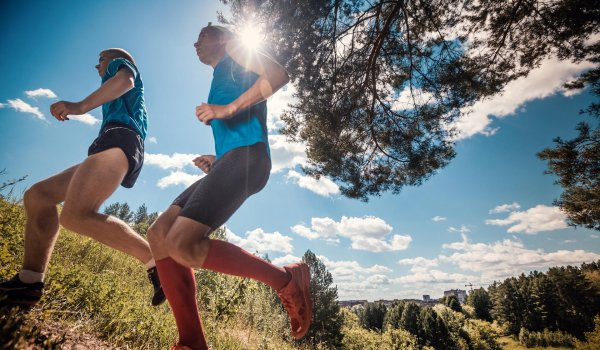 If you go running on a hot, sunny day do not forget to bring a cap and sunscreen.