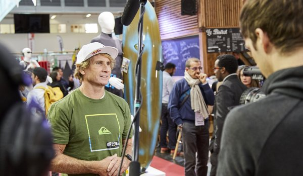 Where the sports world comes together, Mr. Surf needs to be present as well: Robby Naish gave some valuable remarks at ISPO.