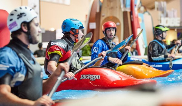 Do you fancy canoe or kajak sports? In this case you're right at ISPO Water Sports Village. You'll find great experts and retailers there.