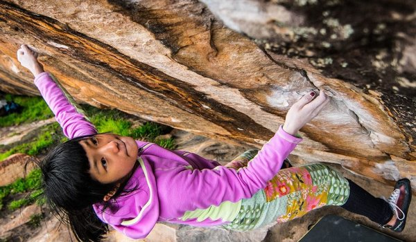 In March 2016 Ashima Shiraishi became the first woman ever to have a bouldering problem in grade 8c.