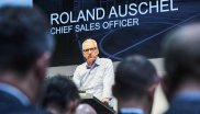 "Roland Auschel, Chief Sales Officer at adidas, on the ISPO Digitize stage: ""We're back at ISPO Munich to demonstrate our commitment to the specialist trade."""