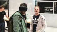 FC Bayern star Javi Martínez visits the ISPO Munich 2018 - and takes a look at the Adidas booth in the Digitize Area to test the VR glasses.
