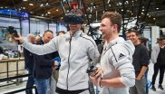 FC Bayern-Star Manuel Neuer tests the latest VR technology at ISPO Digitize - this looks like fun.