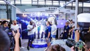 FC Schalke 04 presented their new away kit at the ISPO Shanghai