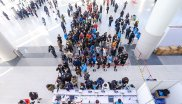 The crowd is great: ISPO Beijing 2019 is waiting for visitors only after the waiting in the big queue has been completed.
