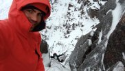 For Calum the test jacket is the best for winter climbing - and he has a lot of jackets.