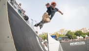 The boys on the skates are part of the FISE World Series too.