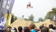 The Stars are showing backflips and turns at the MTB FISE World Series in Chengdu China.