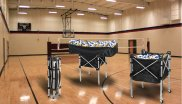 The foldable volleyball trolley is a product innovation which can store as many as 45 percent more balls.