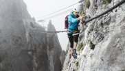 ... climbing a via ferrata and alpin climbing.