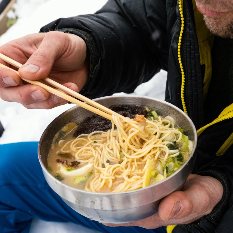 Ramen soup for the ski tour
