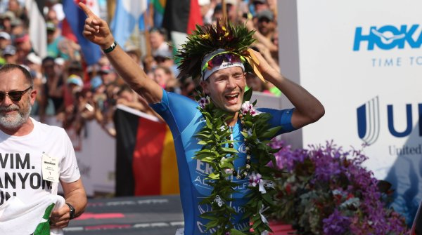 Patrick Lange, winner of the Ironman Hawaii 2017 with a new track record.