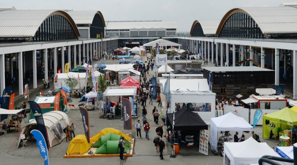 The open air area at the Outdoor in Friedrichshafen