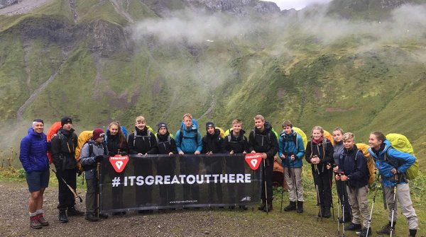13 pupils of the Friedrich-Junge-Schule in Großhansdorf were allowed to cross the Alps in 10 days.