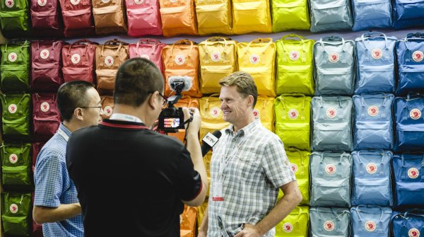 Alex Koska in an interview at ISPO Shanghai
